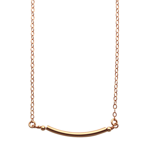 Rose Gold Curved Bar necklace