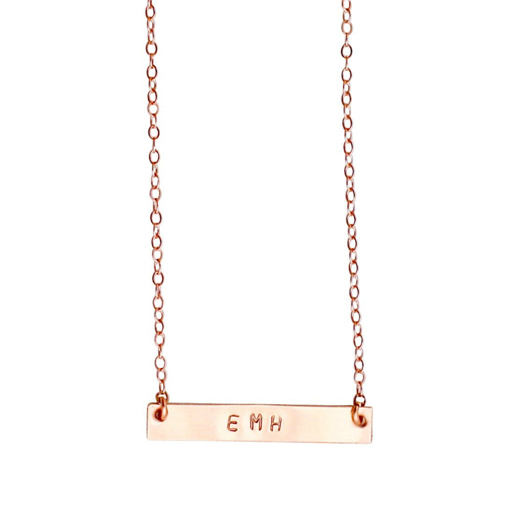 Rose Gold nameplate necklace