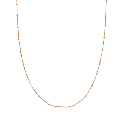 pendant necklace gold delicate bead hugerect solid product
