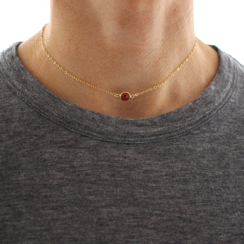 Ruby Gold Choker necklace