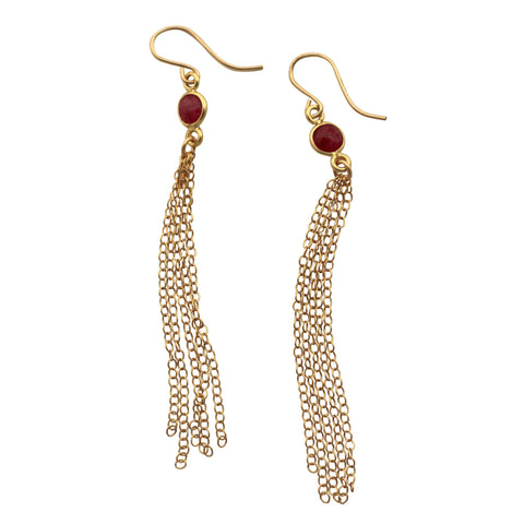 Ruby Shoulder Duster earrings