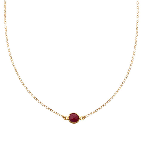 Ruby Gold Choker
