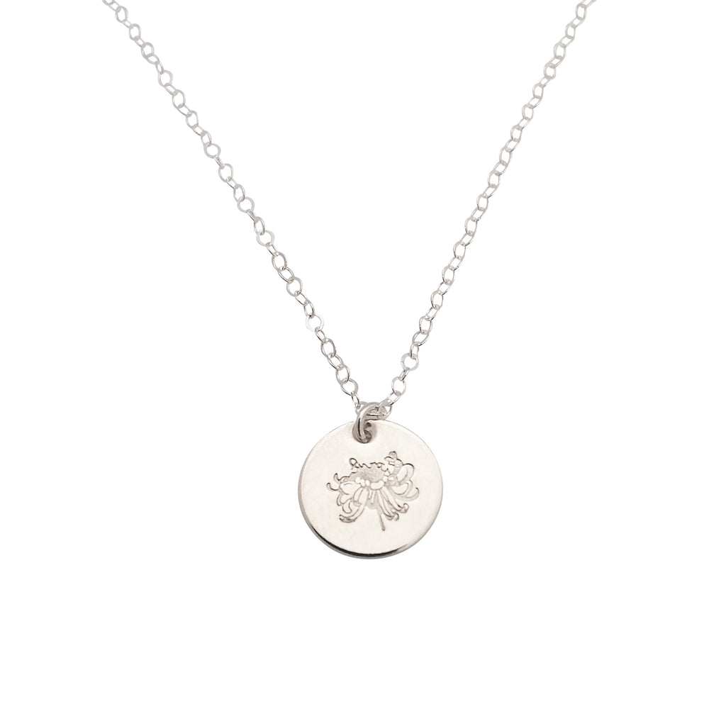 Silver Birth Flower necklace