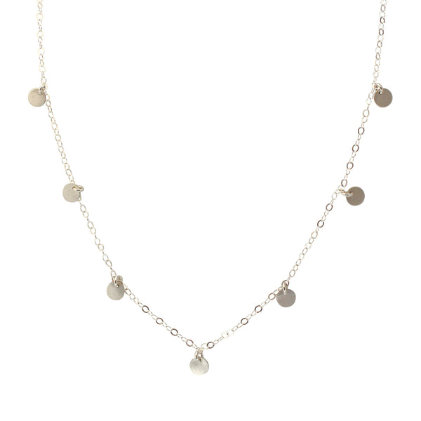 Silver Coin Disc necklace