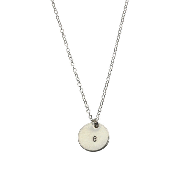 Silver Initial This necklace