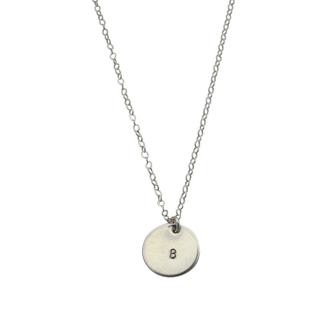Initial This Silver necklace - midi