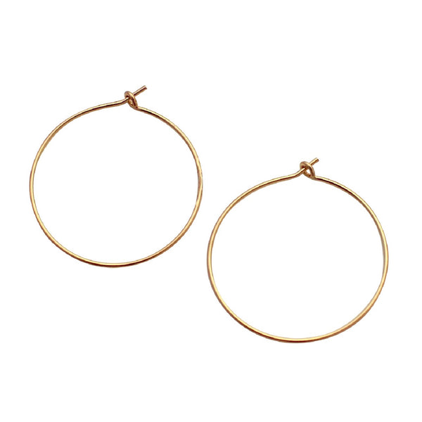 Slim gold hoop earrings