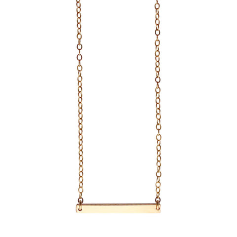 Gold Bar Necklace - small