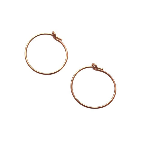 Mini Rose Gold Hoop Earrings