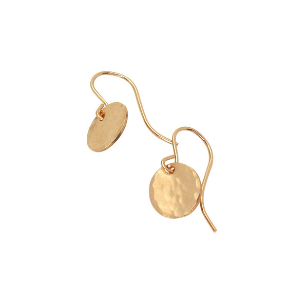 Tiny Hammered Disc earrings