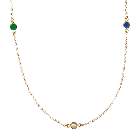 Triple Drop gemstone necklace