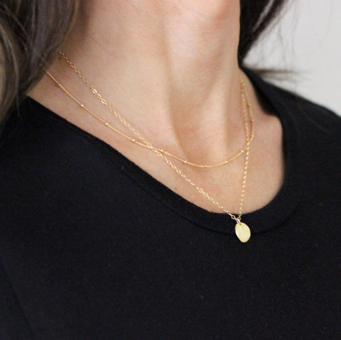 Gold Layering Necklace set (no. 6) - save 15%