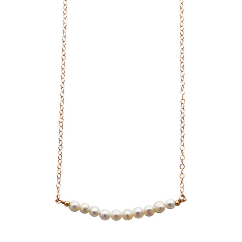 Freshwater Pearl Skinny Beaded Necklace