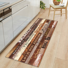 Load image into Gallery viewer, Nordic Kitchen Mat Bedroom Entrance Doormat Home Hallway Floor Decoration Living Room Carpet Wood grain Bathroom Anti-Slip Rug