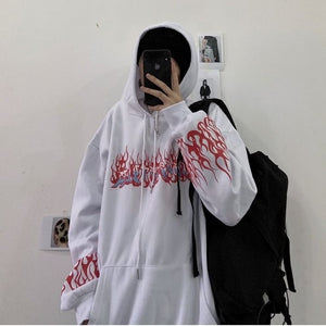 print long sleeve Pullovers oversized harajuku hoodie plus size winter clothes sweatshirt women korean style streetwear tops