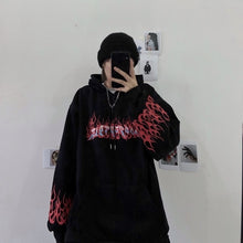 Load image into Gallery viewer, print long sleeve Pullovers oversized harajuku hoodie plus size winter clothes sweatshirt women korean style streetwear tops