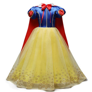 Girls Princess Dress Christmas Halloween Party Costumes Children Birthday Vestidos Robe Kids Disfraz Clothes Dress Costume