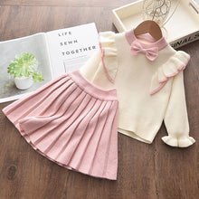 Load image into Gallery viewer, Bear Leader Girls Winter Clothes Set Long Sleeve Sweater Shirt Skirt 2 Pcs Clothing Suit Bow Baby Outfits for Kids Girls Clothes