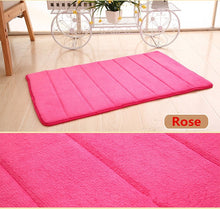 Load image into Gallery viewer, 1PC 40x60cm Home Bath Mat Non-slip Bathroom Carpet Soft Coral Fleece Washable Rug Mat kitchen Toilet Floor Decor
