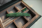 Load image into Gallery viewer, Regal Emerald Beads & Diamonds Bracelet