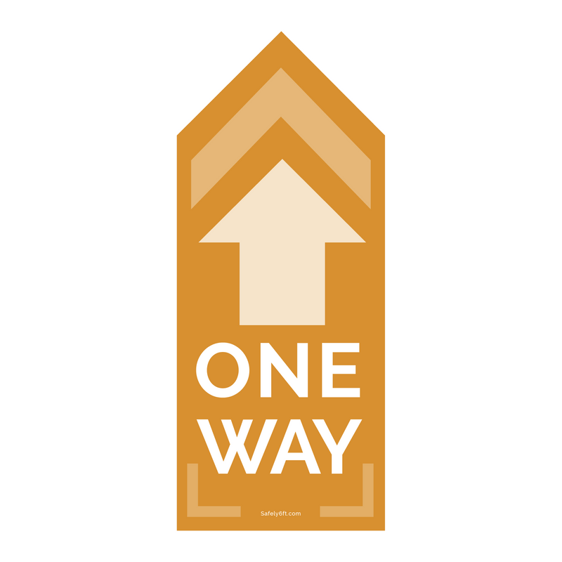 Tall One-Way Arrow Floor Sign