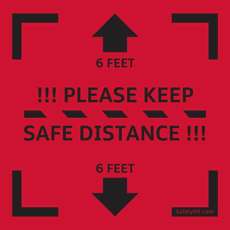 Audi Keep Safe Distance Square Carpet Sign
