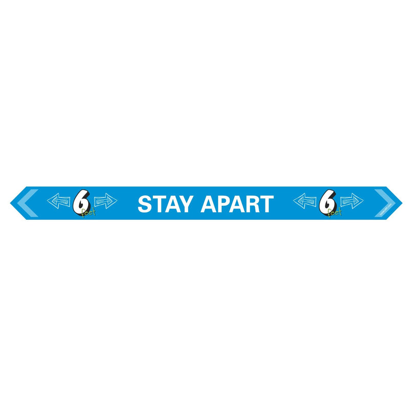 Stay Apart Arrow Social Distance Floor Sign