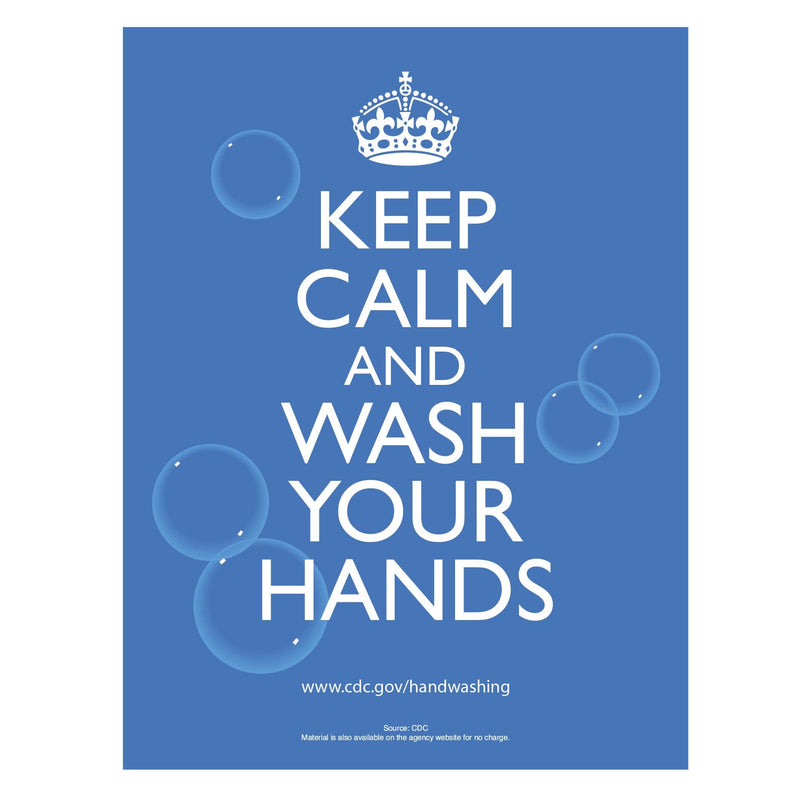 CDC Keep Calm and Wash Your Hands Sign