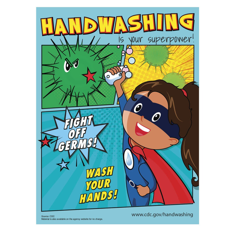 CDC Handwashing School Bathroom Sign