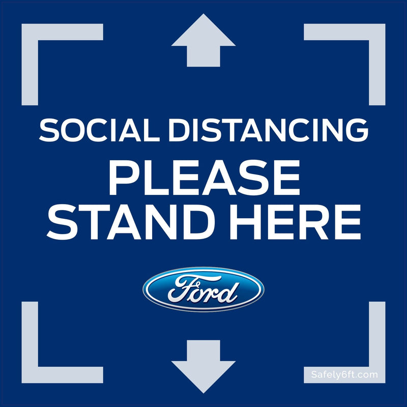 Ford Keep Safe Distance Square Carpet Sign