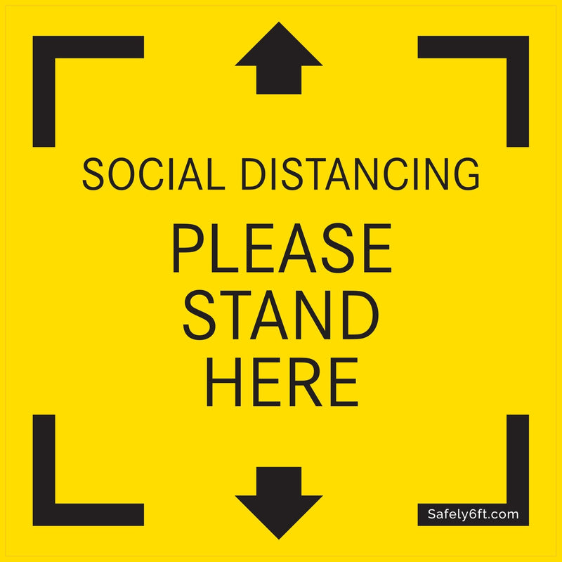Mercedes-Benz USA Keep Safe Distance Square Floor Sign
