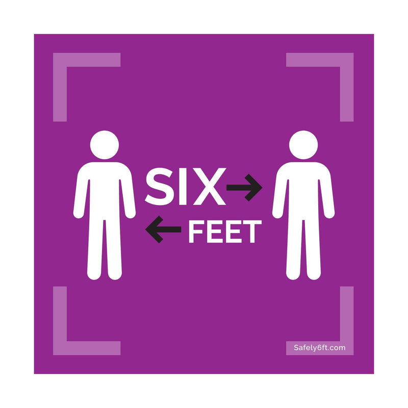 Square Six Feet with People / 2 Arrows Carpet Sign