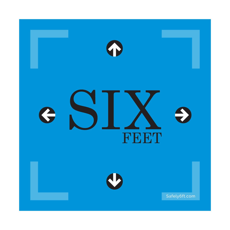 Square Six Feet with Arrows Floor Sign