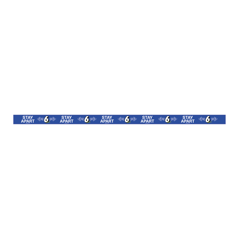 Education Stay Apart Safely Strips (Pack of 12)