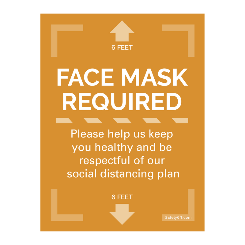 Face Mask Required Door & Window Sign