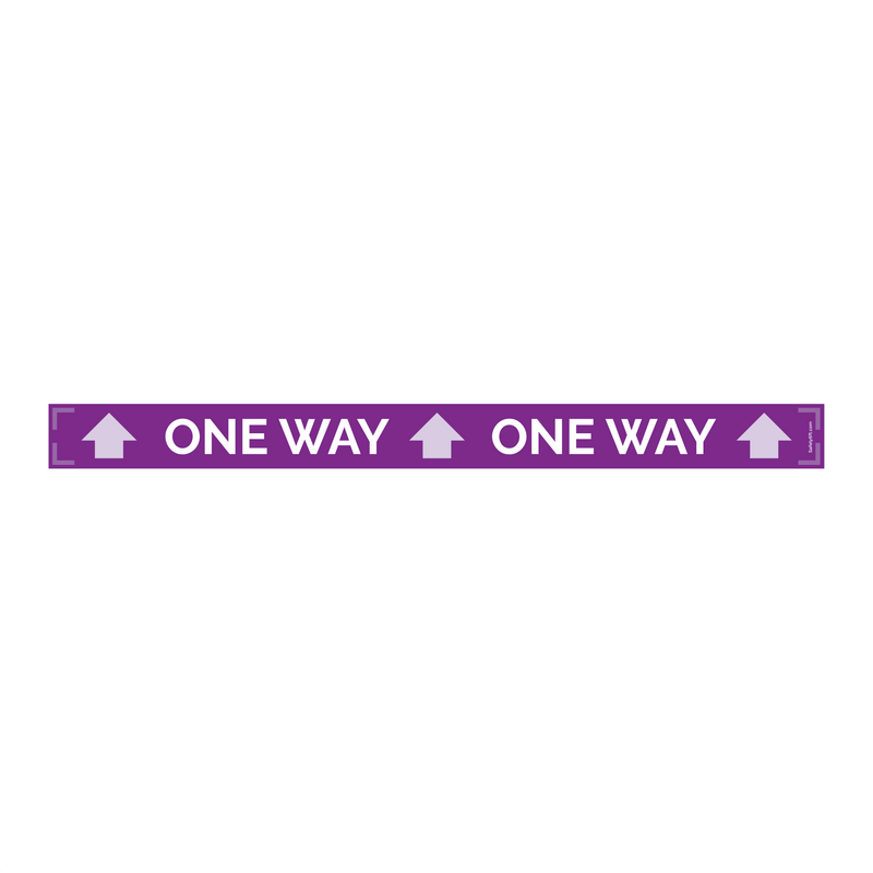 One-Way Narrow Carpet Sign