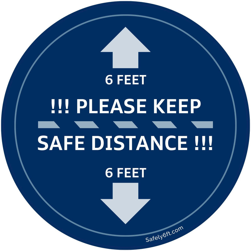 VW Keep Safe Distance Round Carpet Sign