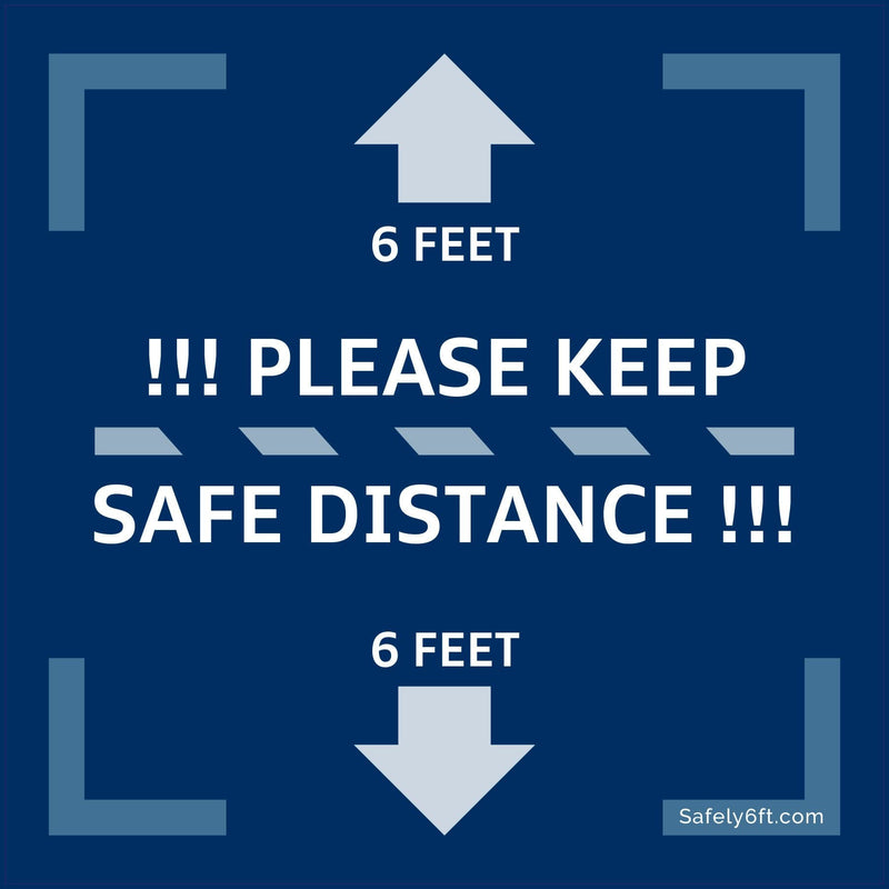 VW Keep Safe Distance Square Carpet Sign