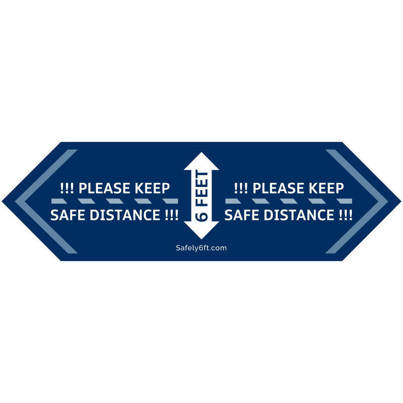 VW One-Way Arrow Carpet Sign