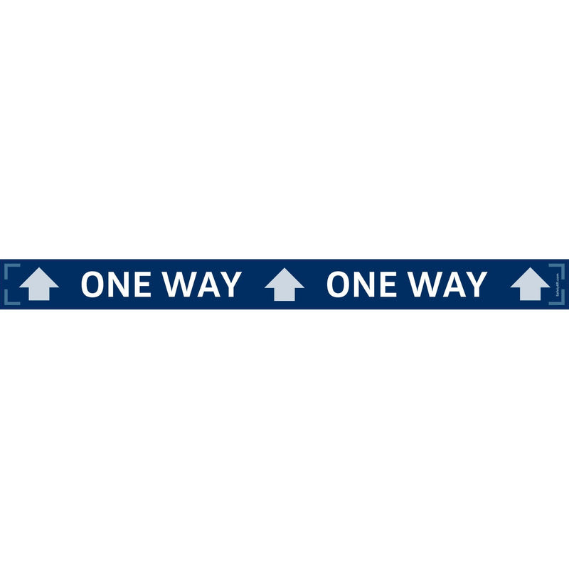 VW One-Way Narrow Strip Carpet Sign