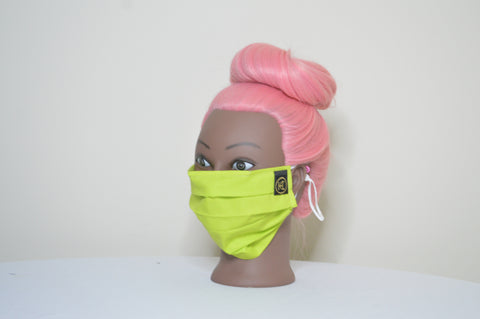 SOLID LIME GREEN FACE MASK