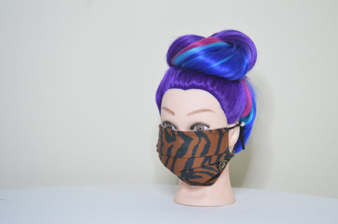 B/B TIGER STRIPE FACE MASK