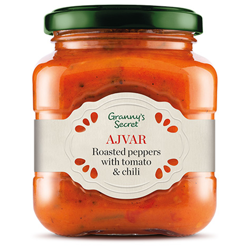 Granny's Secret Ajvar Roasted Peppers with Tomato & Chili 550g