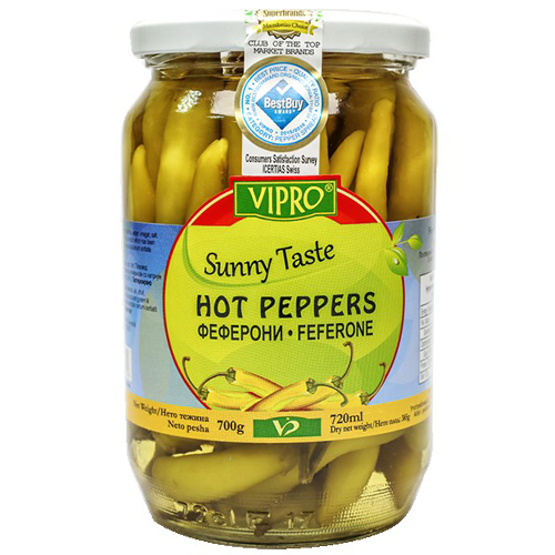 Vipro Feferone Hot Peppers 700g