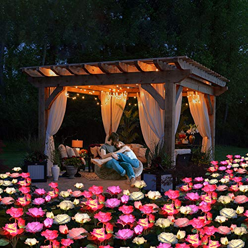 SOLAR POWERED LED ROSE LIGHT (3 FLOWERS)