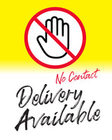 Contactless Delivery Sign 5 - White - Set of 5