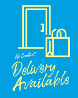 Contactless Delivery Sign 6 - Blue - Set of 5