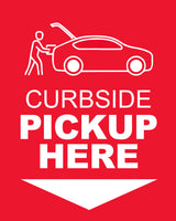 Curbside Pickup 3 - Red - Set of 5