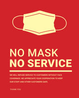 Mask Required Sign - 1 - Red - Set of 5