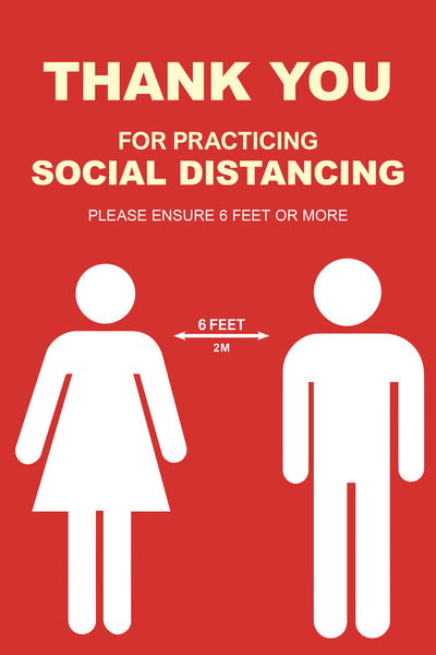 Social Distancing Required - 3 - Set of 5